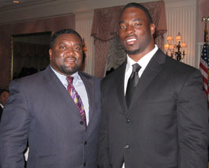 Anthony and Justin Tuck of The NY Giants